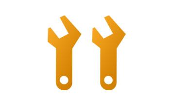 Icon - Service Mats - Zwei gelbe Schraubenschlüssel